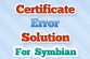 Certificate Error Solution