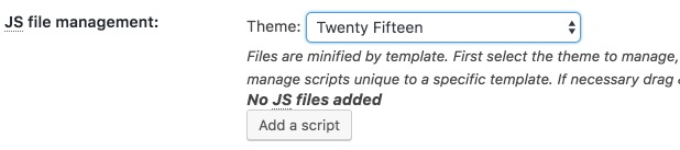 Select Theme: JS File Management