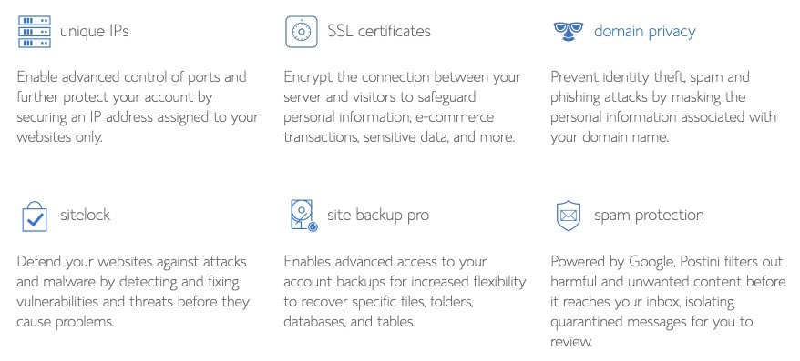 Bluehost additional features