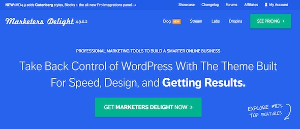 Marketers Delight WordPress Theme