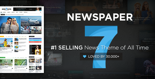 Newspaper theme from ThemeForest