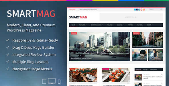 SmartMag Theme from ThemeForest