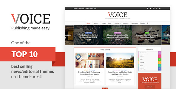 Voice theme from ThemeForest