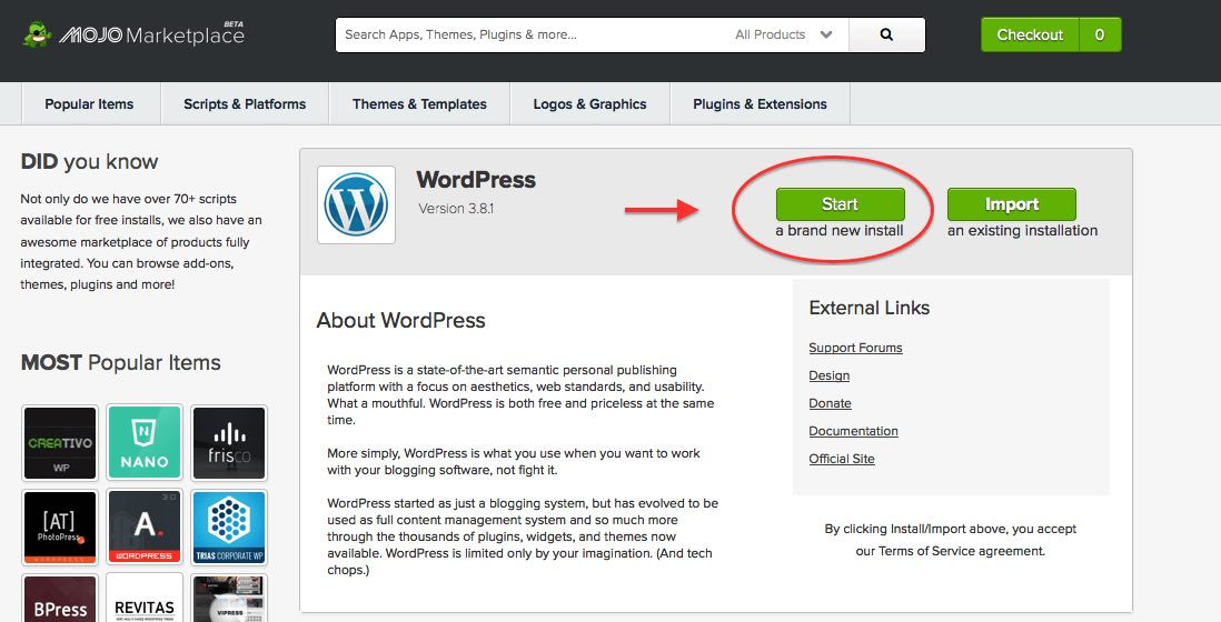 Automatically Install WordPress on Bluehost