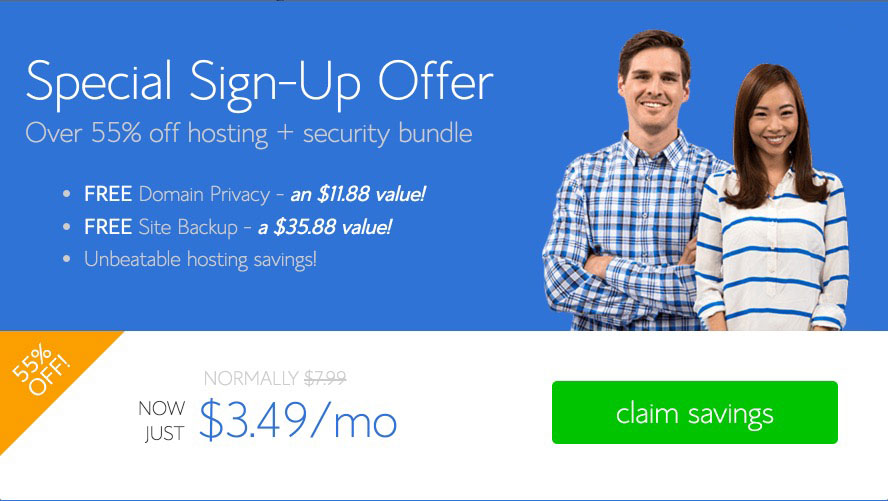 Bluehost special coupon