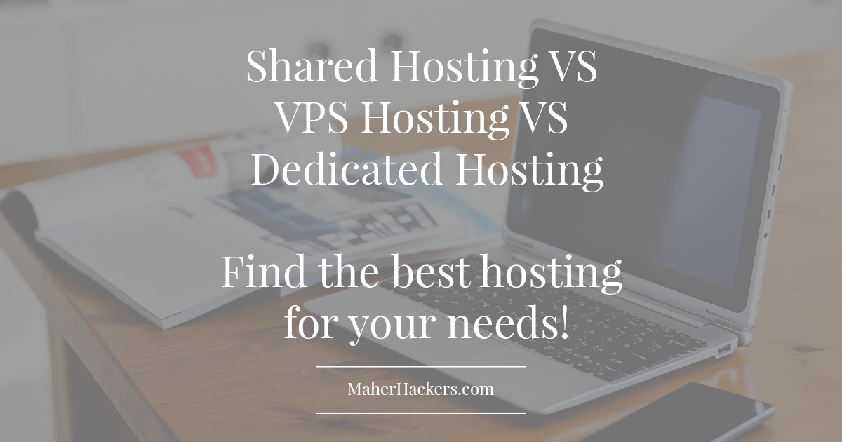 Shared vs VPS vs Dedicated Hosting