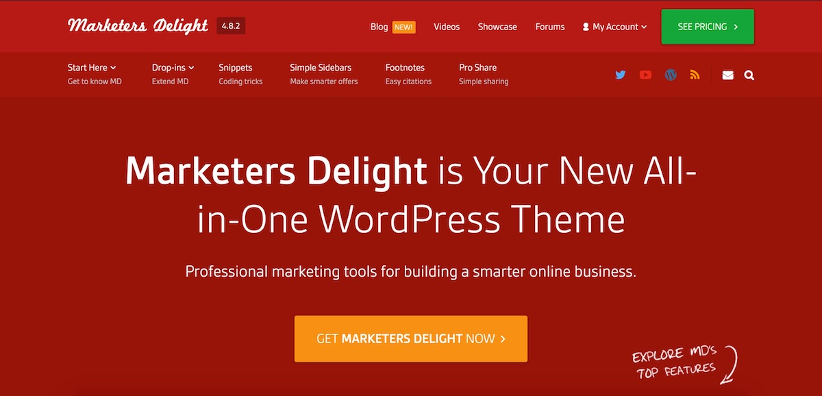 Marketers Delight Review - Best Premium WordPress Theme
