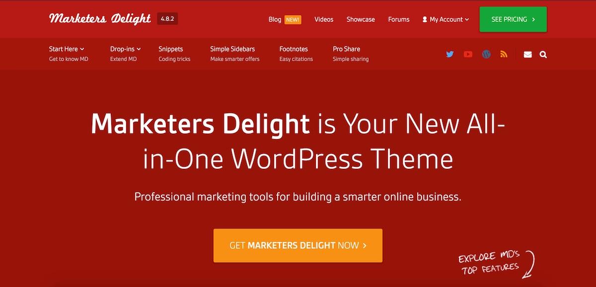 Marketers Delight - Best Premium WordPress Themes