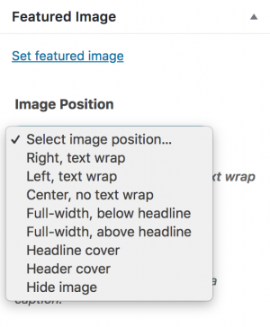 Featured Image Options