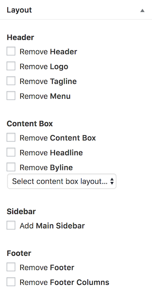 MD Page/Post Layout Options