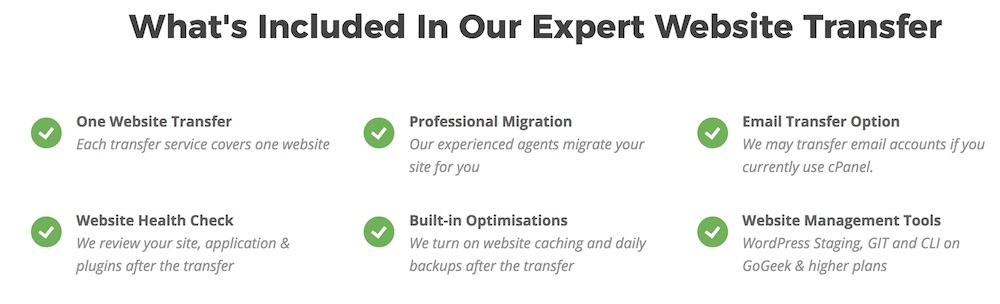 SiteGround Free Website Migration