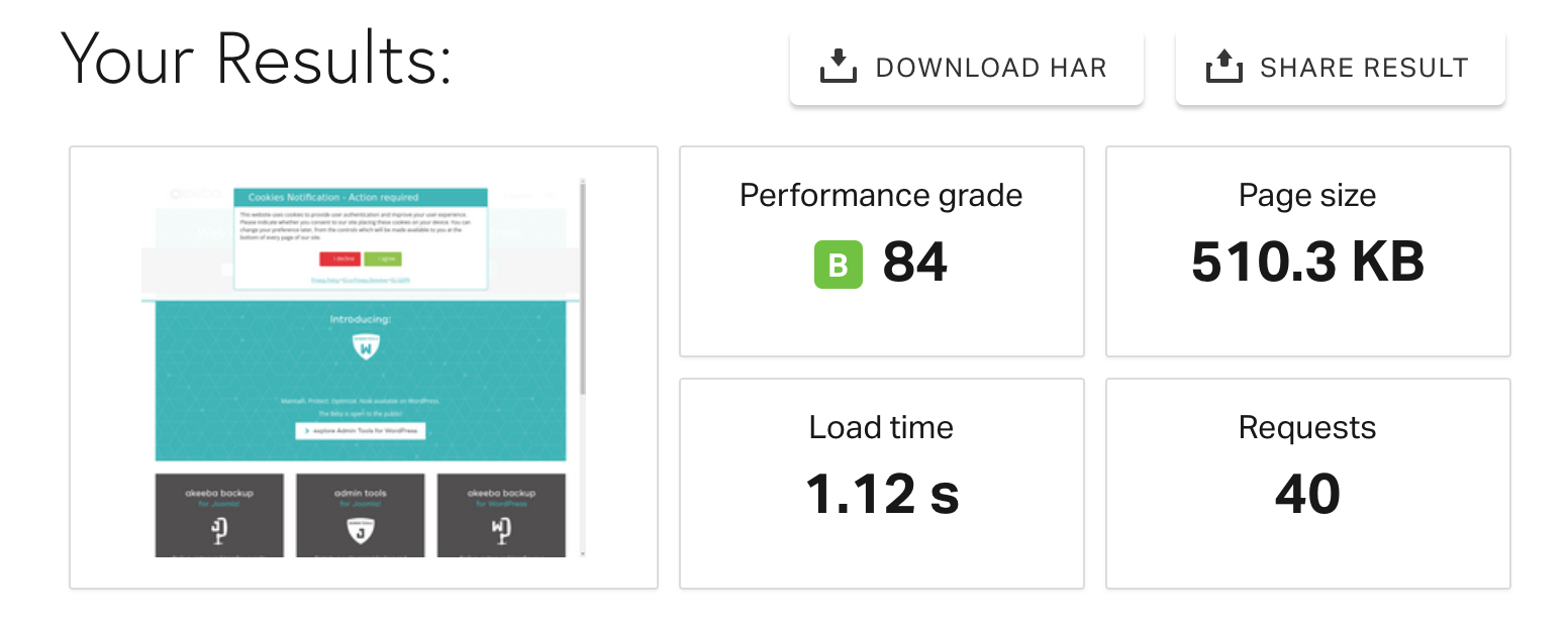 SiteGround Hosting Speed Test