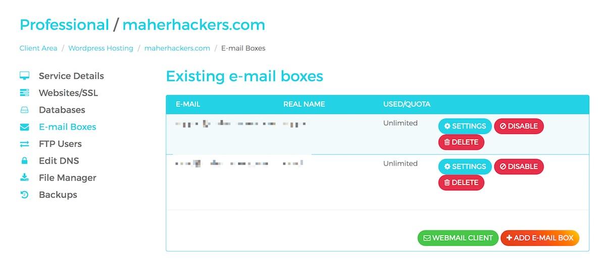 WPX Hosting Email Setup