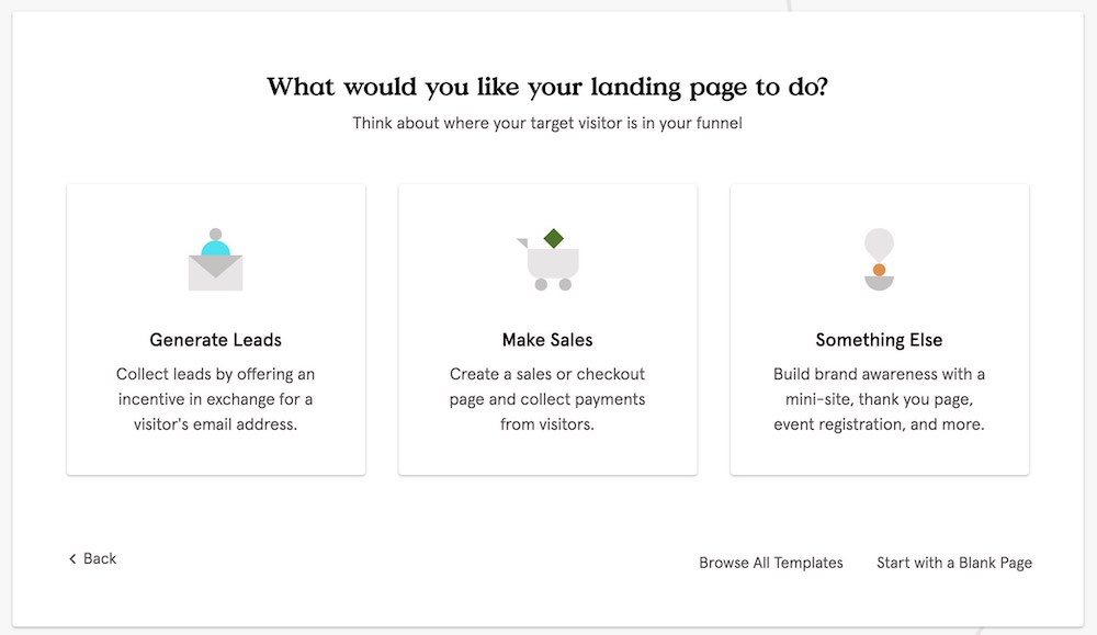Leadpages - Landing Page Options