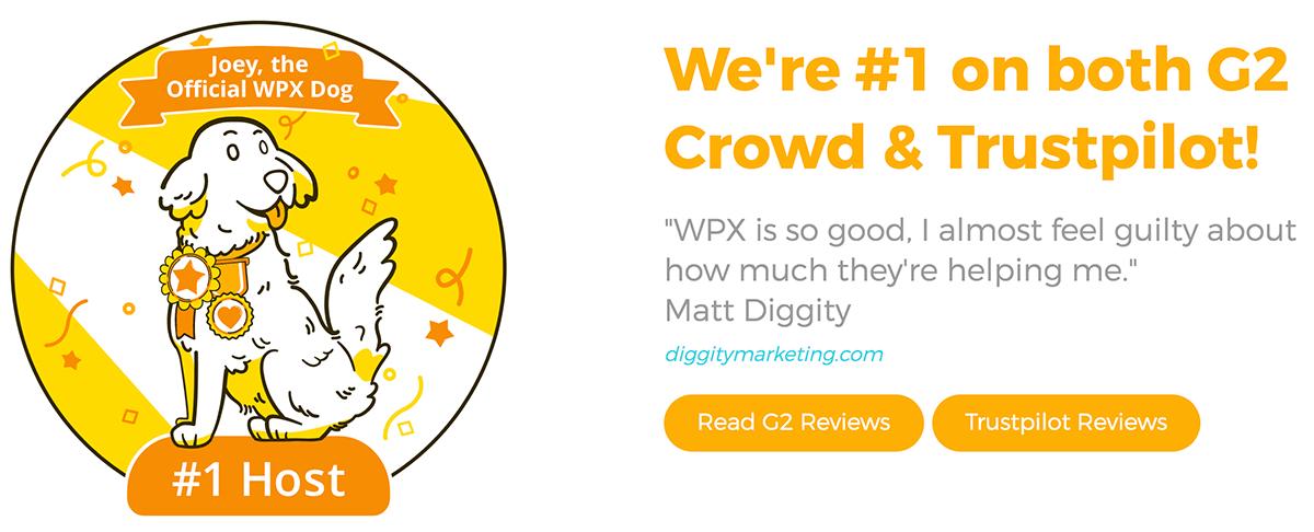 WPX Hosting Trustpilot Reviews